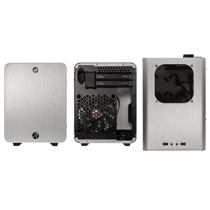 Raijintek METIS PLUS Mini-ITX Case - Silver - Window