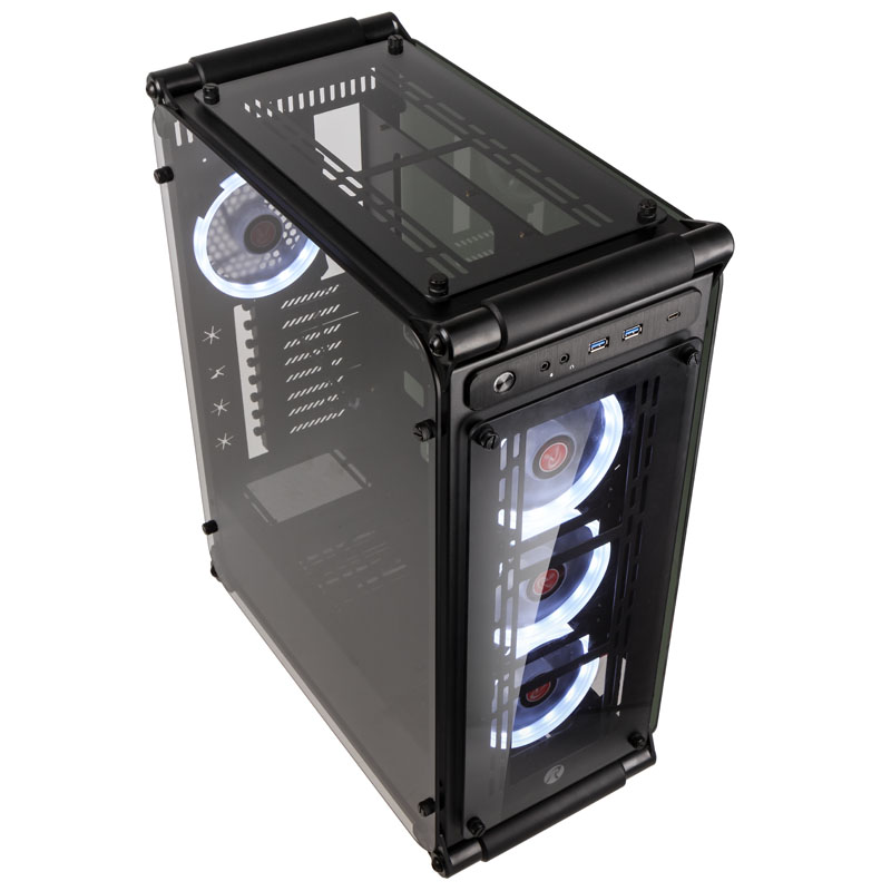 Raijintek Coeus Evo TC Midi-Tower Case - Black - Tempered Glass