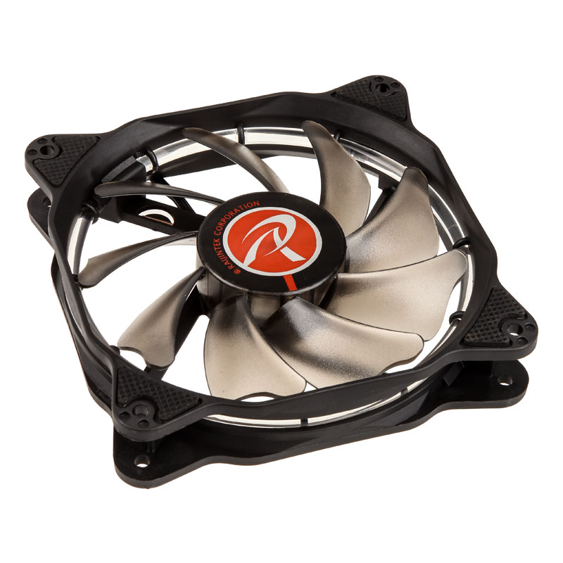 Raijintek Auras 12 LED Fan - Red - PWM - 120mm - (800-1800 rpm) - 2-pack
