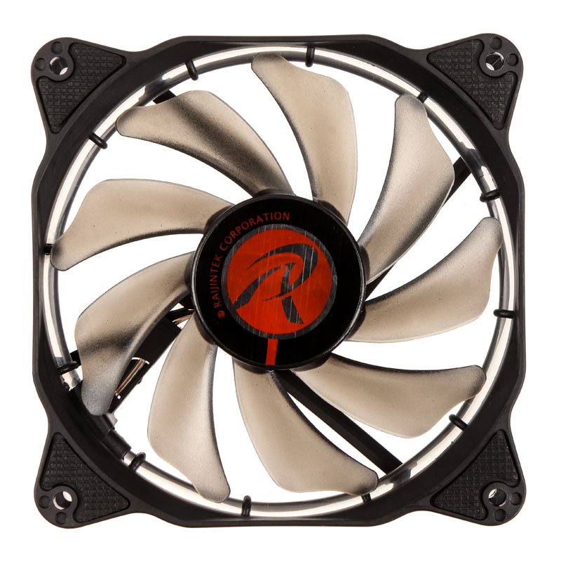 Raijintek Auras 12 LED Fan - Green - PWM - 120mm - (800-1800 rpm) - 2-pack