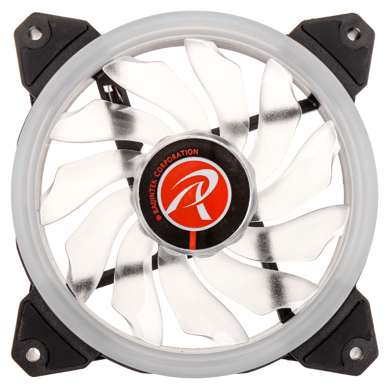 Raijintek IRIS 12 LED Fan - White - PWM - 120mm (800-1800 rpm)