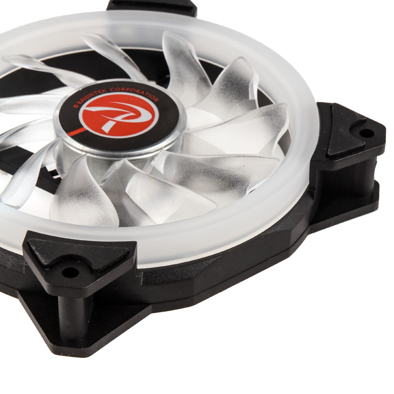 Raijintek IRIS 12 Rainbow RGB LED Fan - Black - PWM - 120mm (800-1800 rpm)