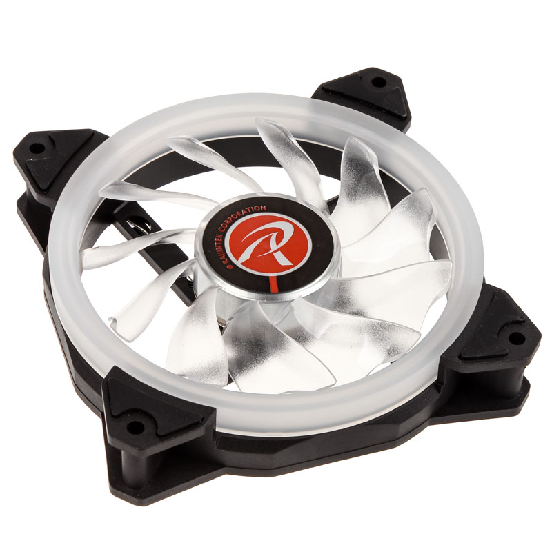 Raijintek IRIS 12 Rainbow RGB LED Fan - Black - PWM - 120mm (800-1800 rpm) 2-pack