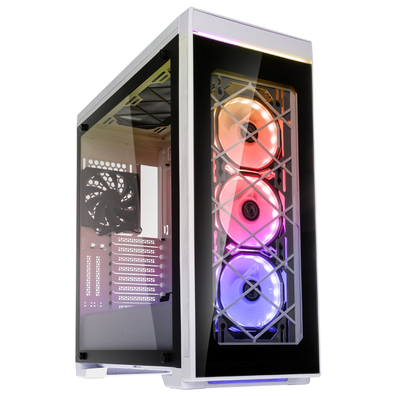 Lian Li Alpha 550W Midi-Tower, Tempered Glass - White