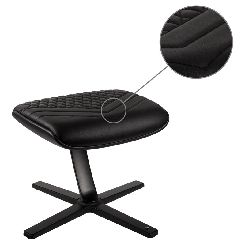 noblechairs Footrest - Real Leather, Black