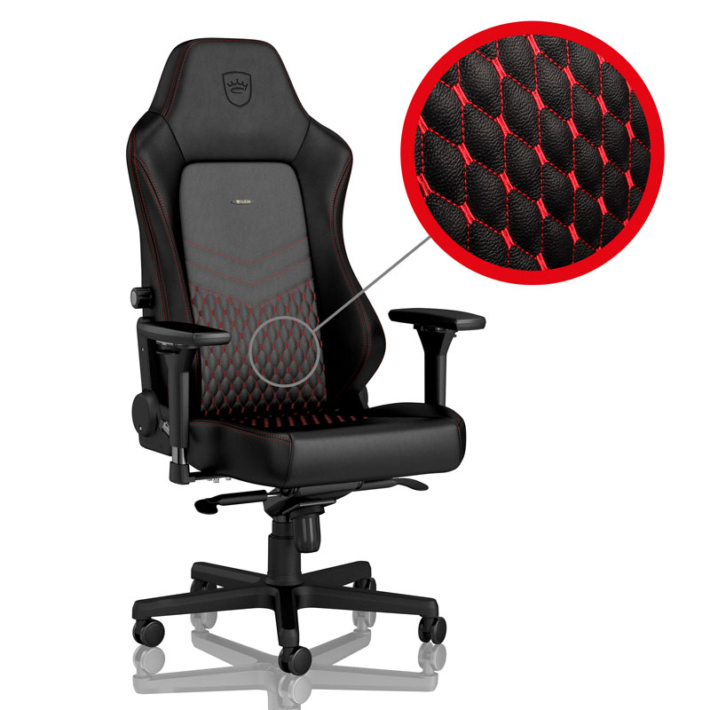 noblechairs HERO Series Real Leather, Black/red