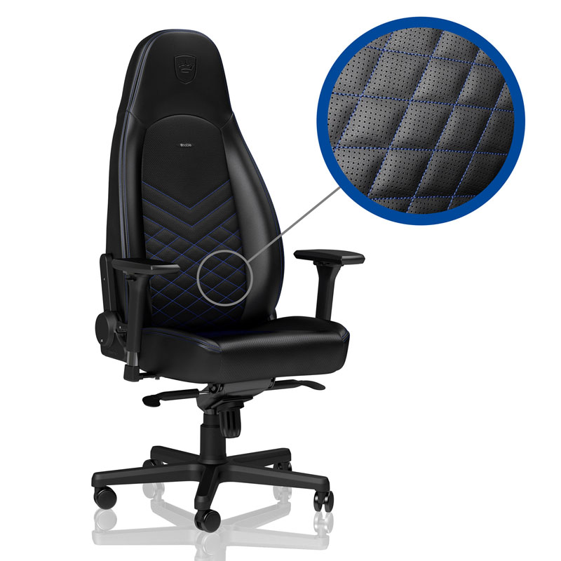 noblechairs ICON Series Faux Leather, black/blue