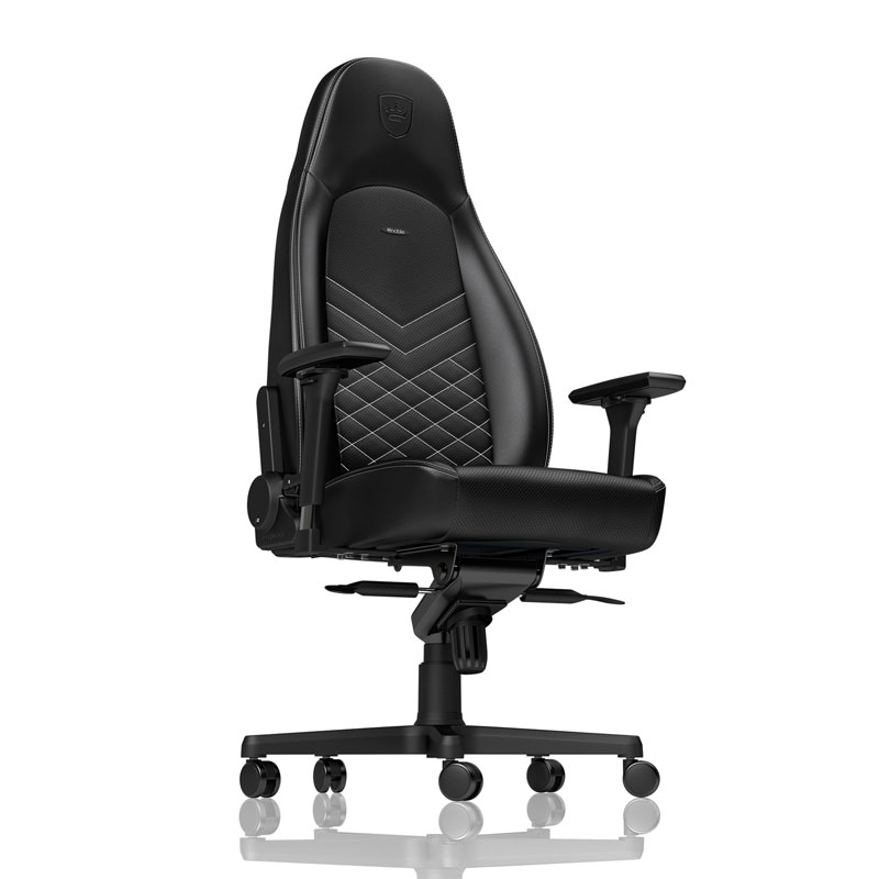 noblechairs ICON Series Faux Leather, black/platinwhite