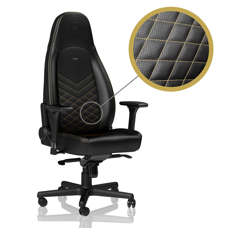noblechairs ICON Series Faux Leather, black/gold