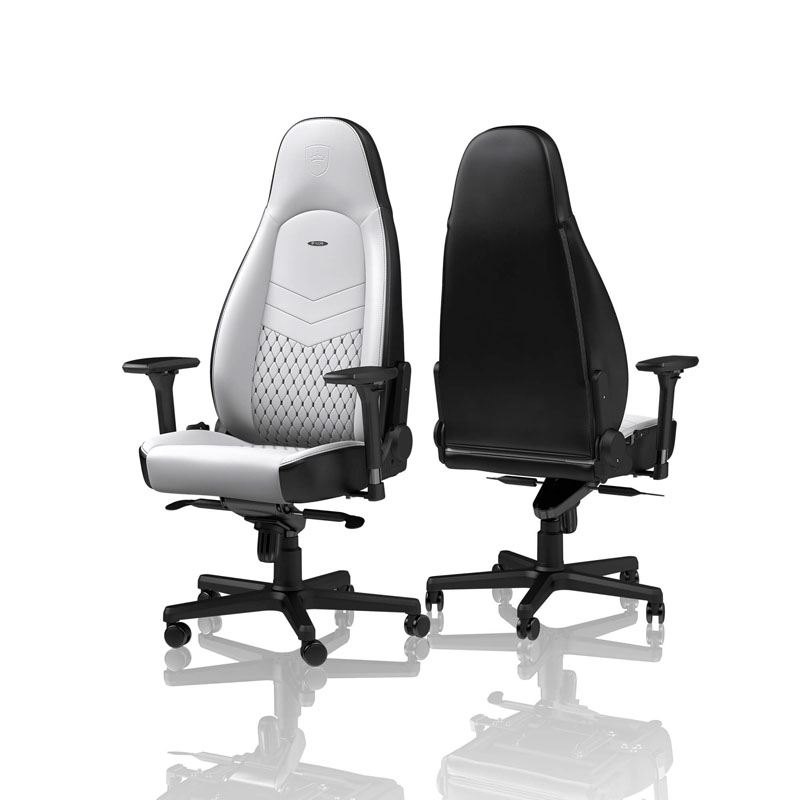noblechairs ICON Series Faux Leather white/black