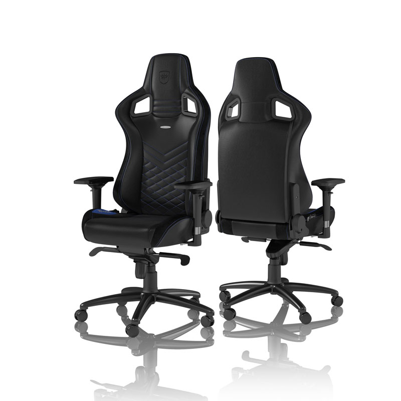 noblechairs EPIC Series Faux Leather, black/blue