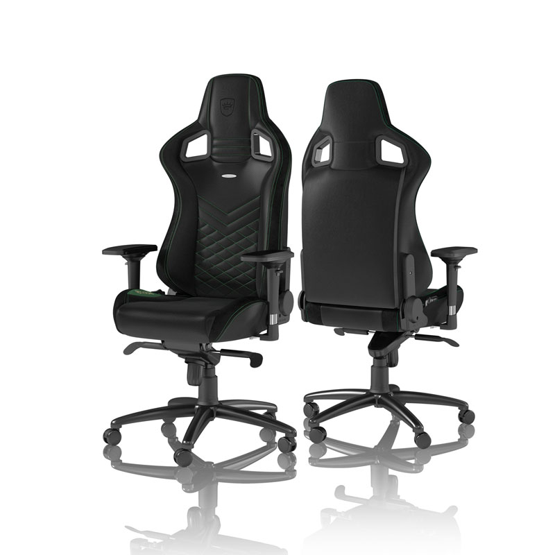 noblechairs EPIC Series Faux Leather, black/green