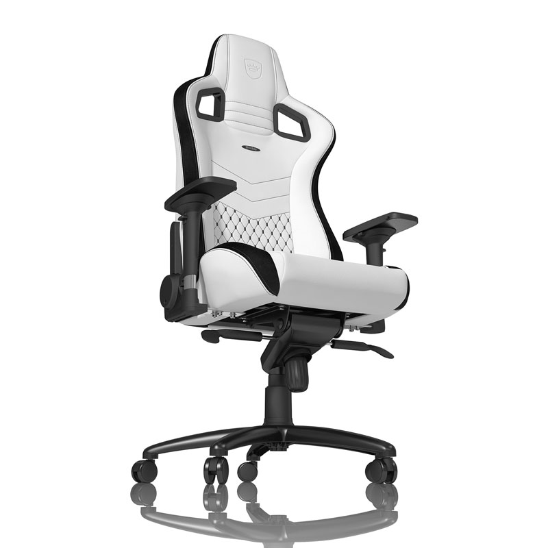 noblechairs EPIC Series Faux Leather, white/black