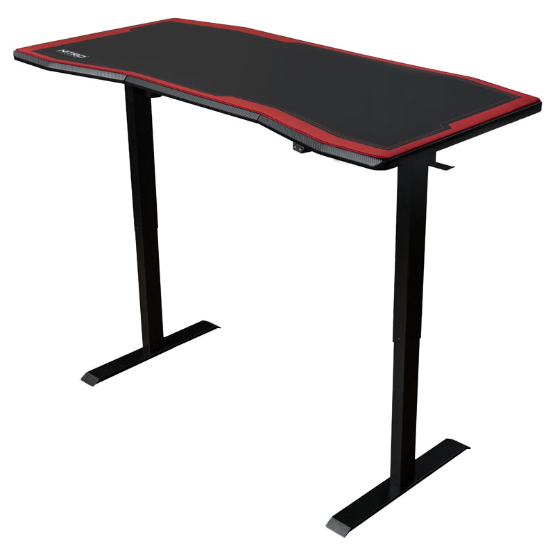 Nitro-Concepts DESK D16E 1600x800 Carbon Red - Electrically height adjustable