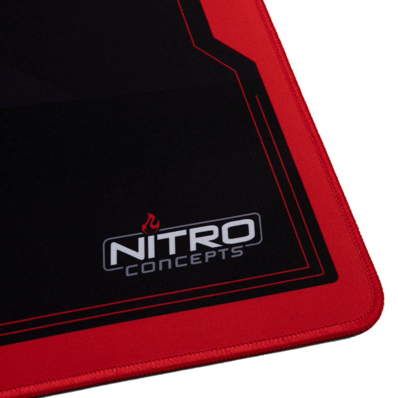 Nitro Concepts Deskmat, XXL (900x400mm) - Black/Red