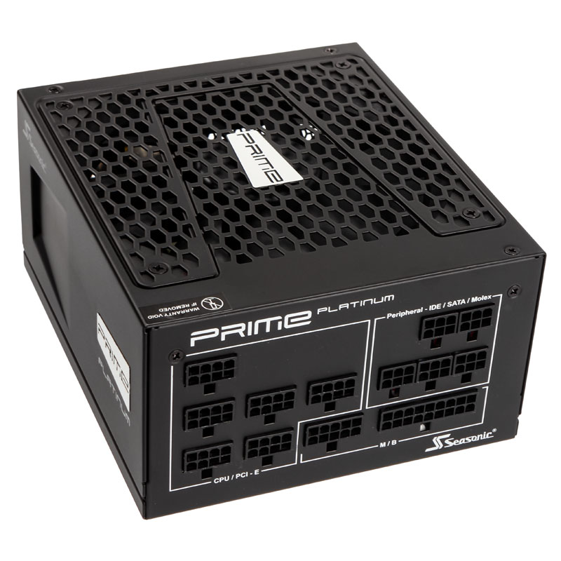 Seasonic Prime 80 Plus Platinum Power Supply, Modular - 1000 Watt