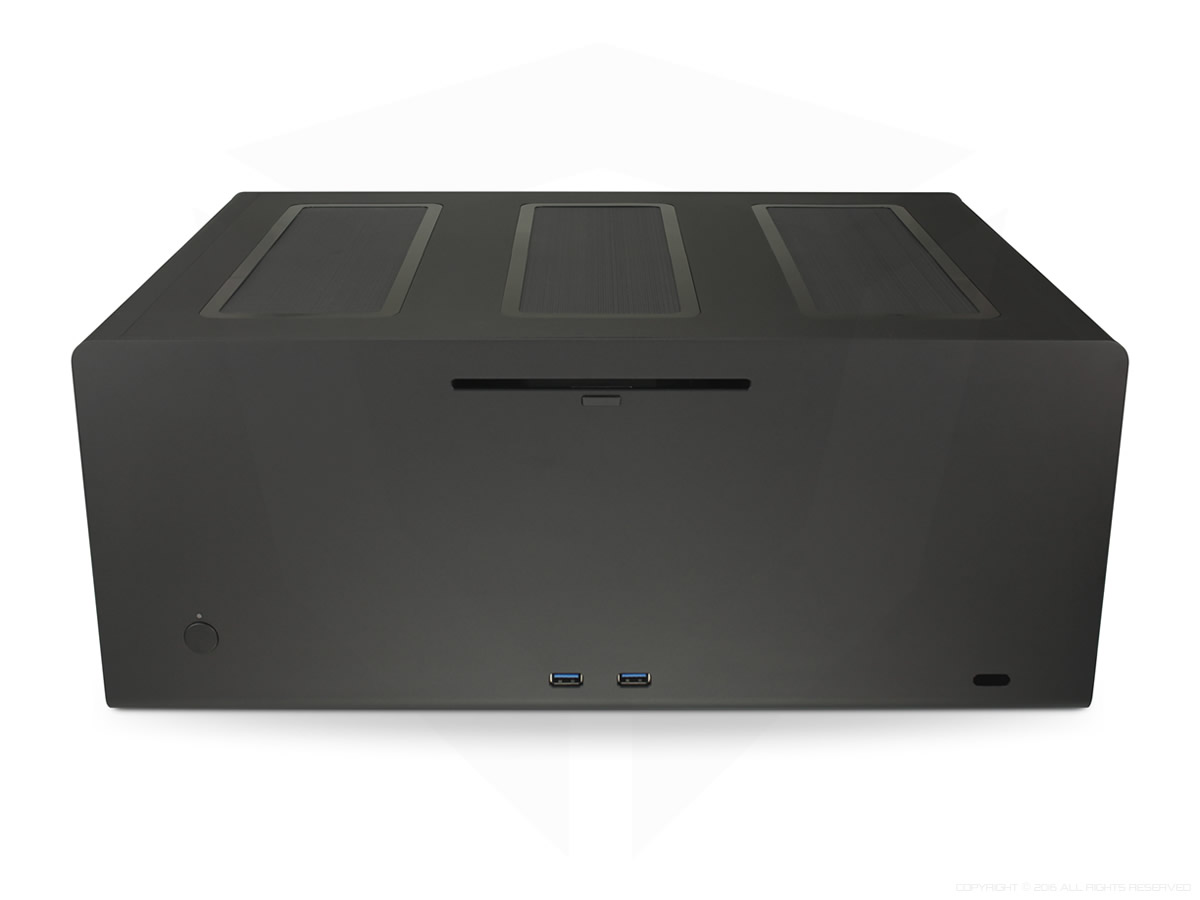 Streacom F12C Black, Extruded Aluminum, with Optical and USB