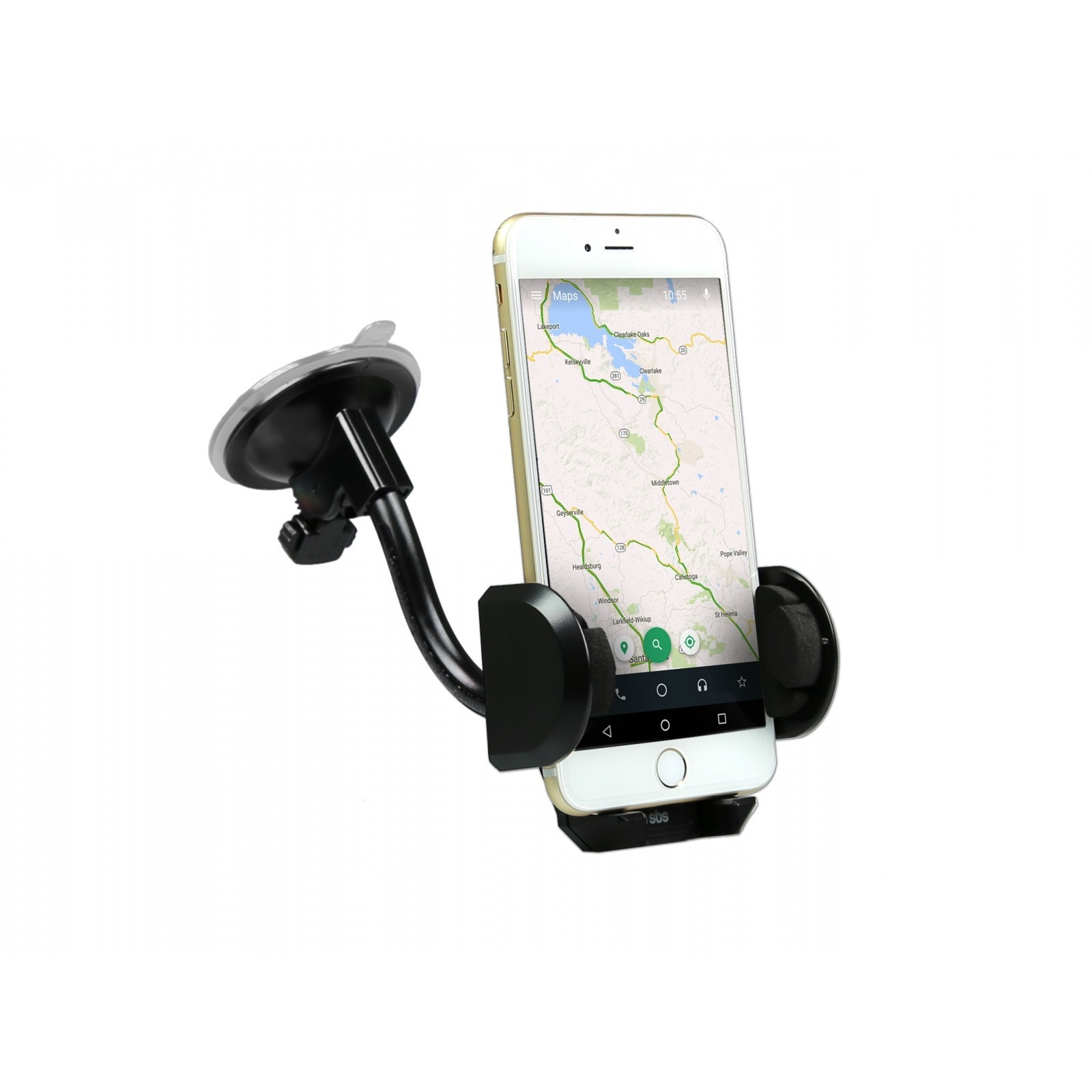 SBS Car holder for smartphones up to 6 inch, adjustable shaft, suction cup for dashboard and windshield
