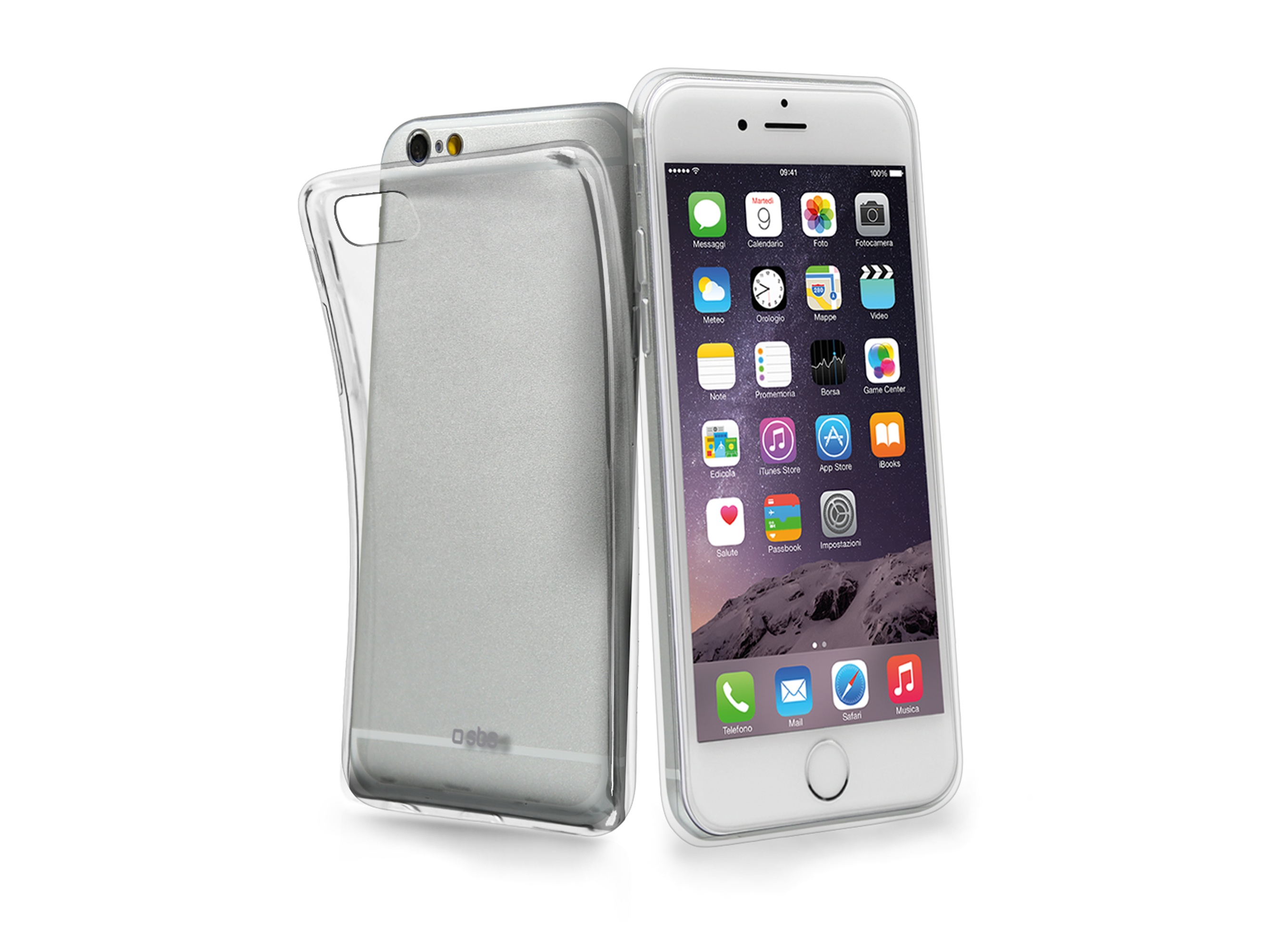SBS Aero cover in TPU for iPhone 5SE,transparent color