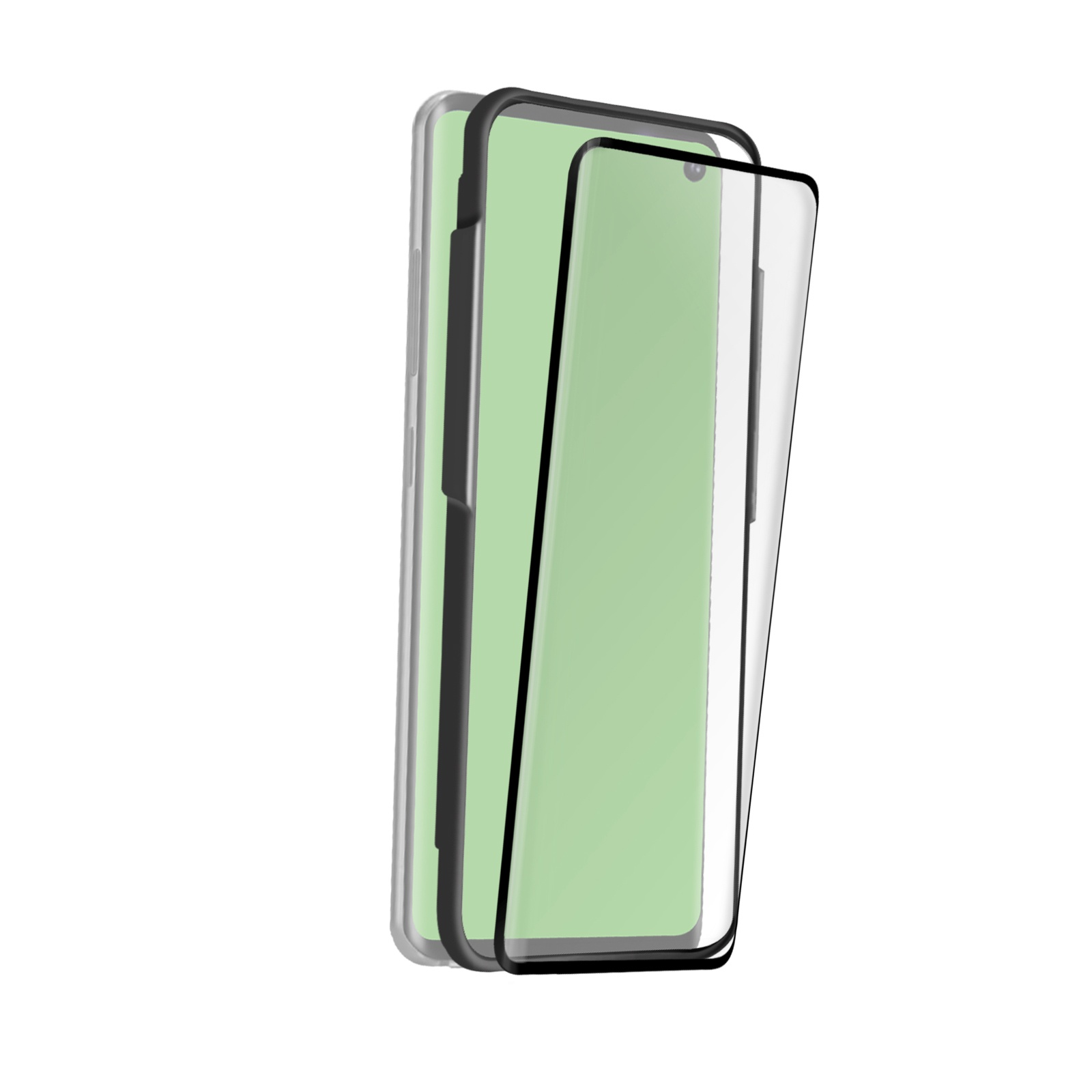 SBS 4D rounded edges screen protector for Samsung Galaxy S10e, black color