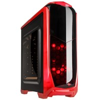 Kolink Aviator Midi-Tower Case - Black/Red - Window